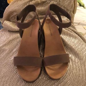 Lucky brand Faux Suede Wedge Sandals